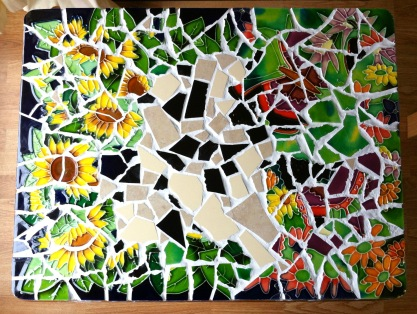 Mosaic folding table top