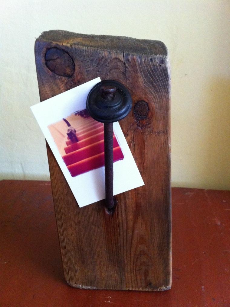 Driftwood photo holder