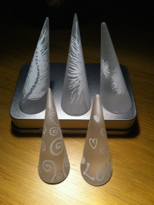 White feathers & swirls