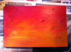 Vibrant sunset colours