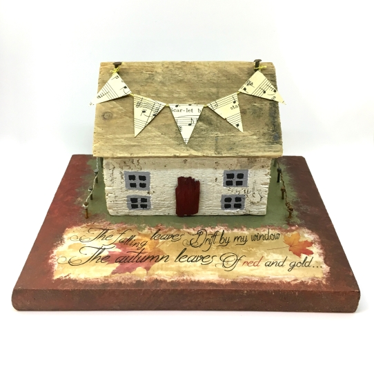 Little White Autumn House
