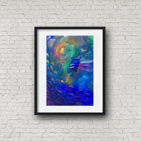 Deep Sea 1 blk frame portrait