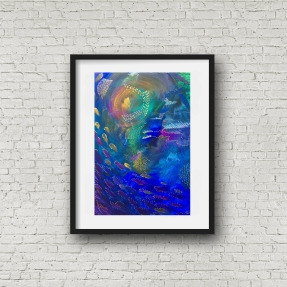 Deep Sea 1 blk frame portrait