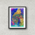 Deep Sea 2 blk frame portrait