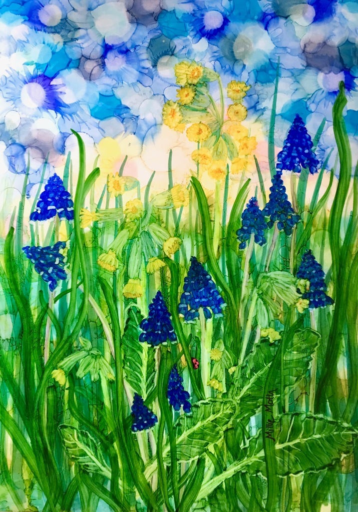 Cowslips & Grape Hyacinths